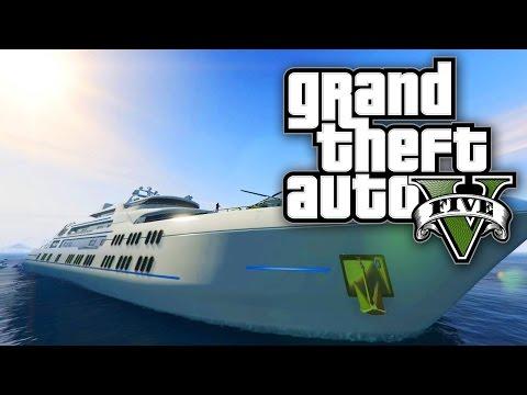 GTA 5 Online - YACHT MONEY MISSION W/ VIP BOSS & BODYGUARDS DLC! (GTA V Online)