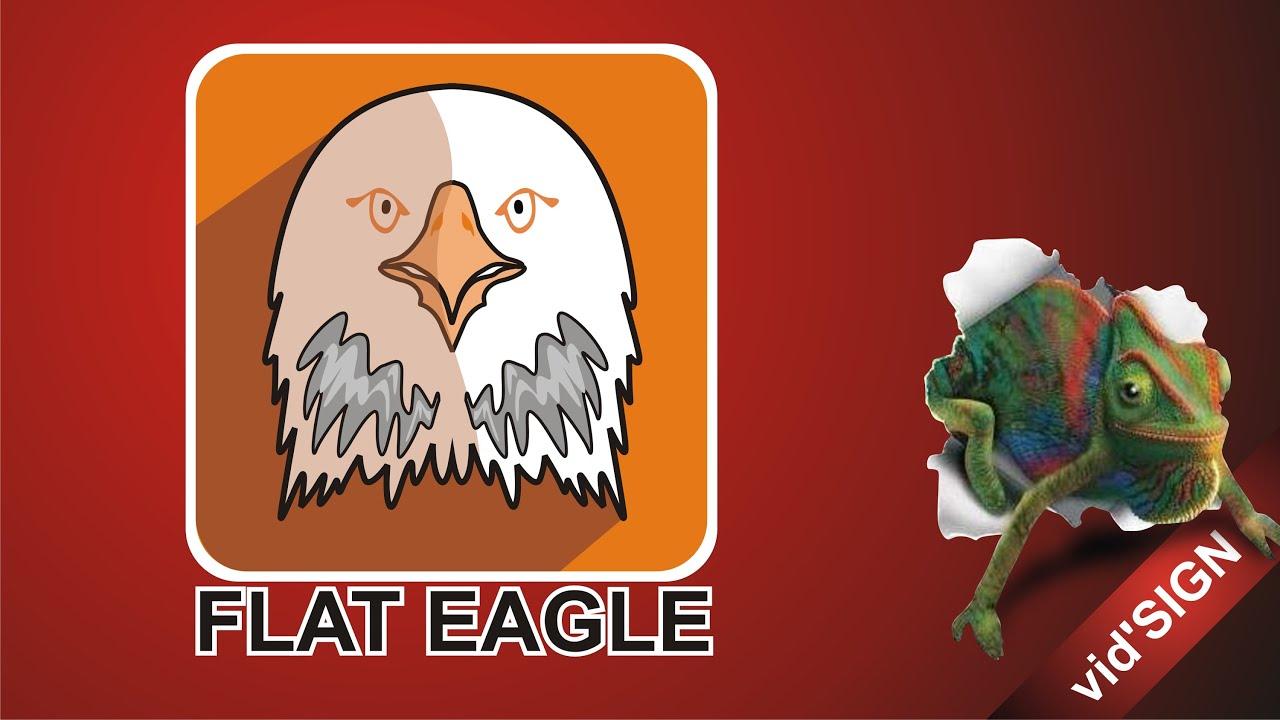 How to Design Logo Animals Flat Design (Eagle Version 2) - YouTube