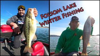 Folsom Lake Winter Bass Fishing 2021