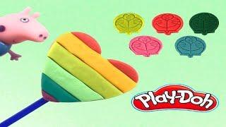 Peppa pig  Play Doh Heart Frozen -  ไอศครีมแป้งโดว์และตัวเลข |ของเล่นเด็ก