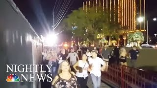 Las Vegas Attack: New Video Show Concertgoers Running For Their Lives | NBC Nightly News