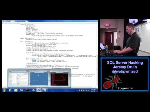 Sql Server Hacking Jeremy Druin Webpwnized