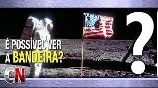É possível ver a bandeira americana na Lua?