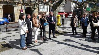 Cayetana Alvarez de Toledo responde a grupo que les recibe con gritos en Etxarri-Aranatz