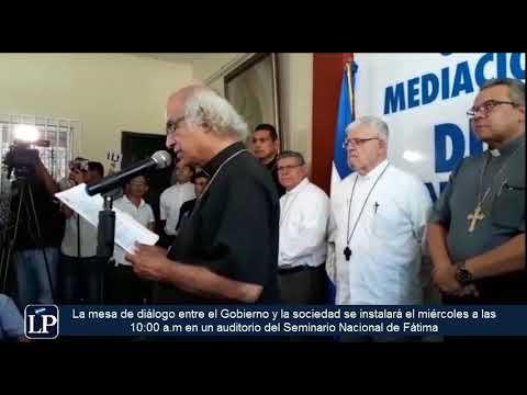 Diálogo Nacional en Nicaragua inicia el miércoles 16 de mayo