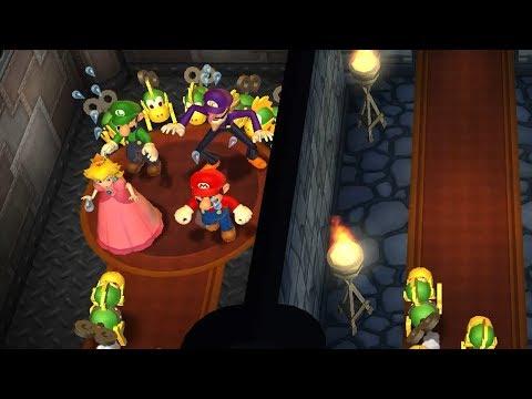 Mario Party 9 Step It Up - Mario vs Luigi vs Peach vs Waluigi Master Difficulty Gameplay | GreenSpot