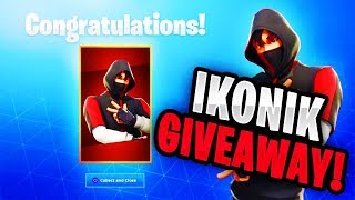 (USE CODE: RME) ICONIC SKIN GIVEAWAY! (FORTNITE BATTLE ROYALE) FREE ICONIC SKIN!