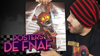 ABRIENDO POSTERS SORPRESA OFICIALES DE FIVE NIGHTS AT FREDDY'S ⭐️(FNAF Unboxing) | iTownGamePlay