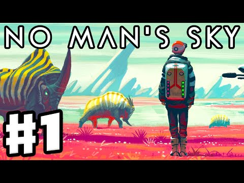 No Man's Sky - Gameplay Walkthrough Part 1 - Ship Repair! Footage of New Planets! (PS4)