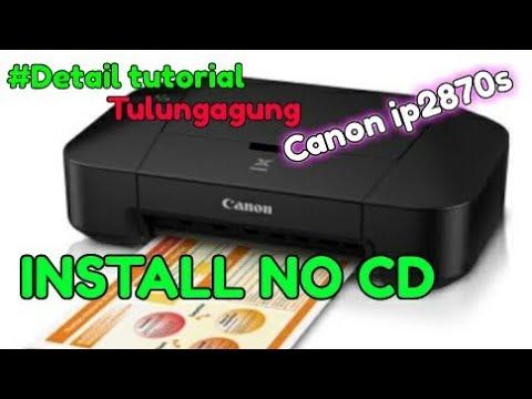 cara Install driver printer canon ip2770.