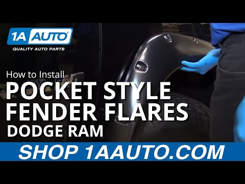 How to Install Pocket Style Fender Flares 2002-09 Dodge Ram BUY QUALITY AUTO PARTS AT 1AAUTO.COM