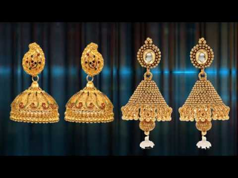 Gold Earrings Collection Diamond Earring Design Earring Designs clip9