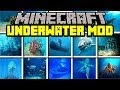Minecraft UNDERWATER MOD! | DISCOVER LOST CITY, TREASURES, SHARKS, & MORE ! | Modded Mini-Game