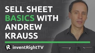 Sell Sheet Basics With Andrew Krauss