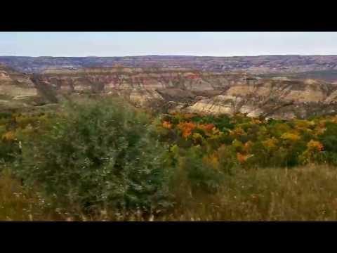 Fall Color Pops at Little Missouri State Park, badlands of North Dakota