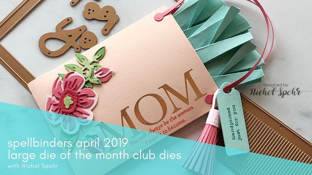 Spellbinders April 2019 Large Die of the Month Club Kit | For You Gift Card  Holder