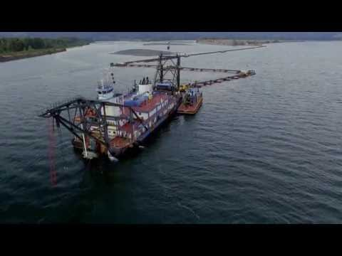 Port Of Portland Dredger part 1 first flight