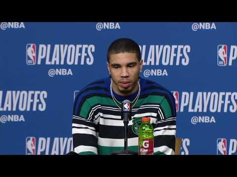 Jayson Tatum Postgame Interview   Sixers vs Celtics Game 5