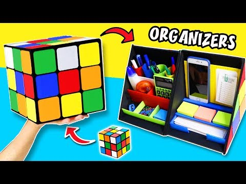 DIYs AWESOME RUBIK`S CUBE DESK ORGANIZERS to give to a Man | aPasos Crafts DIY