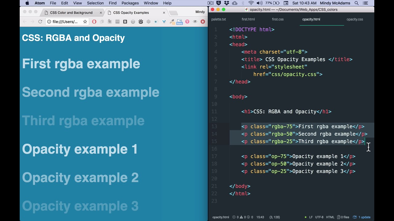 20 CSS Color, Background, Opacity