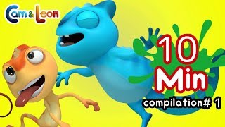 Funny Children Cartoon | 10 Minutes Compilation #1 | Cam & Leon | Cartoon for Kids