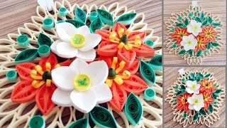 Paper Quilling Flower for Wall Hanging Decoration 19// DIY Wall Decoration//Paper Flower Art
