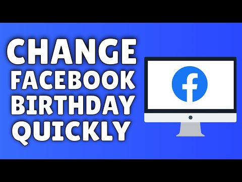 How To Change Your Birthday On Facebook - YouTube