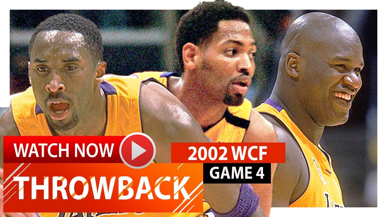 Kobe Bryant Shaquille O Neal & Robert Horry WCF Game 4 Highlights
