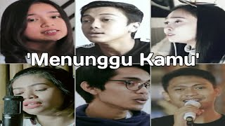 Anji - Menunggu Kamu' (Cover By Della,Barra,Tereza,Chintya,Irfan,Aviwkil)