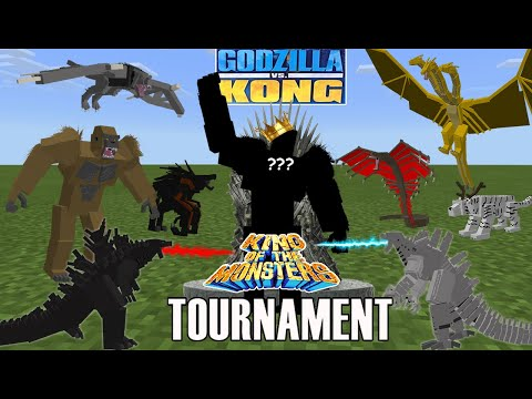 Godzilla VS Kong [KING OF MONSTERS TOURNAMENT] Minecraft PE