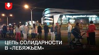 Цепь солидарности в микрорайоне «Лебяжий» 16 сентября