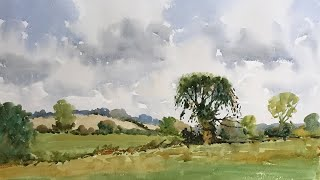 Watercolour: A Summer Landscape  a full length demonstration filmed in real time with Andrew Pitt