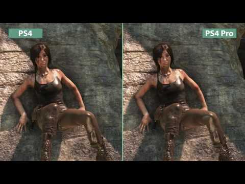 Rise of the Tomb Raider     PS4 Pro    Enhaced Visuals vs  PS4 Graphics Comparison Poster