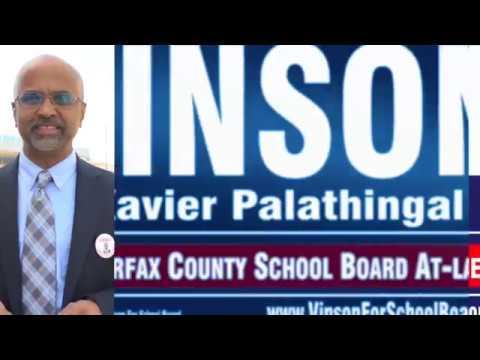 fairfax county school board- Why Vinson Xavier Palathingal