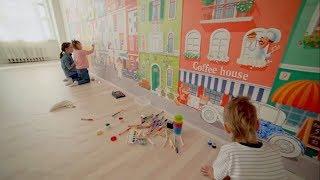 Детские многоразовые обои-раскраски для рисования на стенах - фабрика RFresco