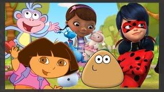 SUPER DIVERTIDO: Dora, Pou, Dra  Brinquedo e Ladybug em aventuras incríveis.