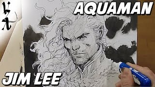 Jim Lee drawing Aquaman during Twitch Stream