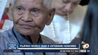 Filipino World War II veterans honored