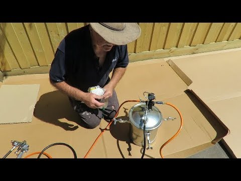 👍 Part 2/2 BlackRidge Air Spray Gun with 10 litre Spray Tank the best spray gun for fence painting