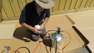 👍 Part 2/2 BlackRidge Air Spray Gun with 10 litre Spray Tank the best spray gun for fence painting