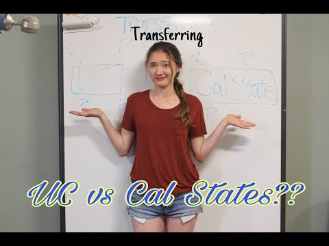 Transferring from CC: Cal States Vs UC