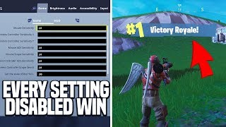Win...but all settings are disabled in the hub and game settings (Fortnite)