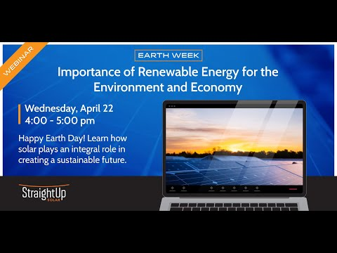 Webinar: The Importance of Renewable Energy on the Environment and Economy