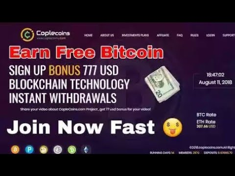 CopleCoins com Review Free Bitcoin Cloud mining 2018 $777 Signup