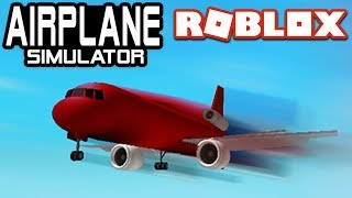 FLYING en AIRPLANE SIMULATOR ( AIRPLANE SIMULATOR) ROBLOX