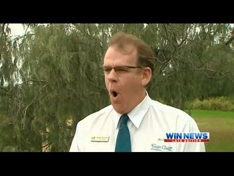 Bird Calling Councillor Warns Of Magpie Season - WIN News Queensland (2013)