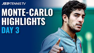 Tsitsipas Begins Campaign; Garin Clashes With Auger-Aliassime | Monte-Carlo 2021 Highlights Day 3