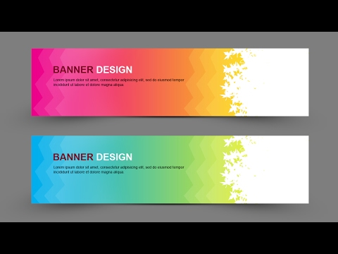 Learn How to Create Simple Banner Design In Photoshop - Photoshop for Beginners - 동영상