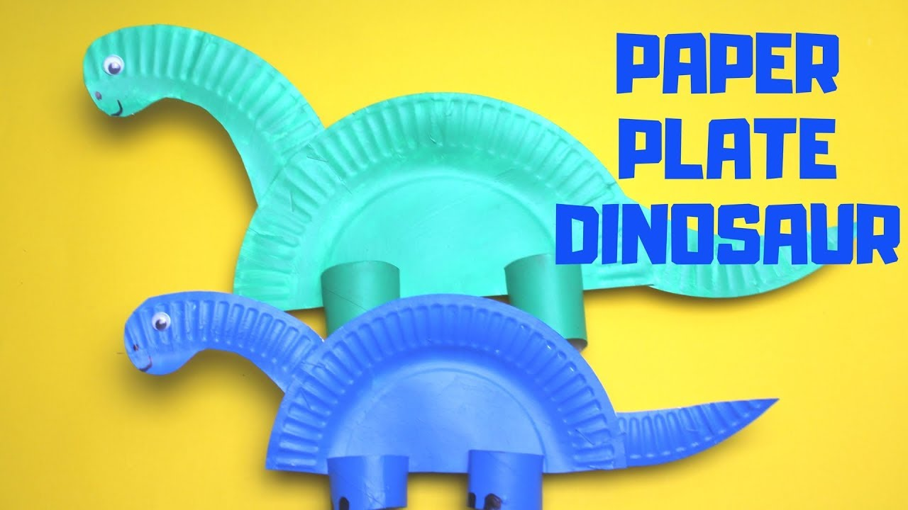 How To Make A Paper Plate Dinosaur Paper Plate Craft Youtube