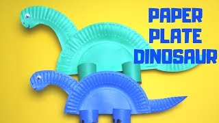 How to Make a Paper Plate Dinosaur | Paper Plate Craft
